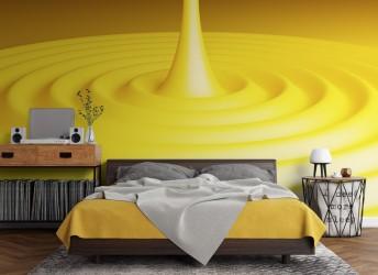 fototapeta 3D żółta
