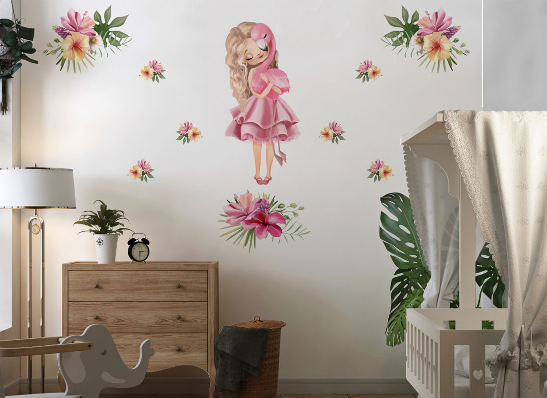 Naklejka na ścianę dla dziewczynek wróżka