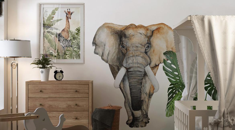 naklejka na ścianę słoń